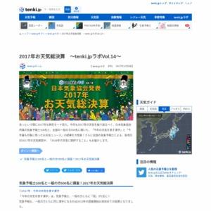 2017年お天気総決算