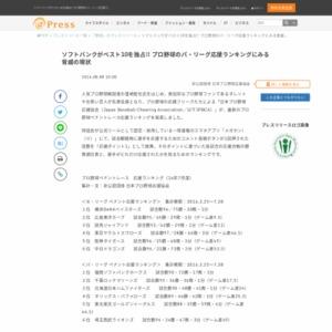 プロ野球ペナントレース応援ランキング 日本プロ野球応援協会