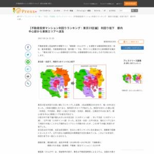 不動産投資マンション利回りランキング:東京23区編