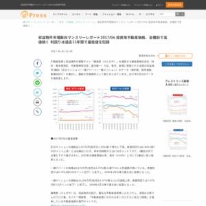 収益物件市場動向マンスリーレポート2017/06