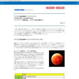アジア11カ国の検索キーワードトレンド 2014年10月7日~2014年10月13日