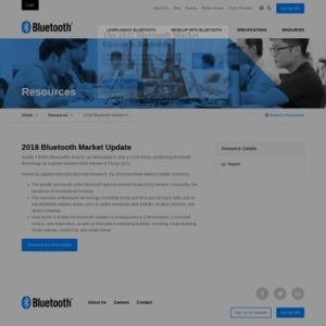 Bluetooth市場動向 2018