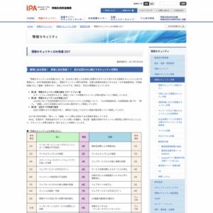 情報セキュリティ10大脅威 2017