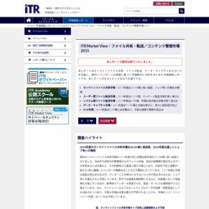 ITR Market View:ファイル共有・転送/コンテンツ管理市場2015