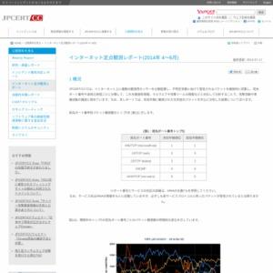 インターネット定点観測レポート(2014年 4~6月)