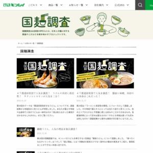 第1回 国麺調査:日本で一番愛されている麺が、明らかに!