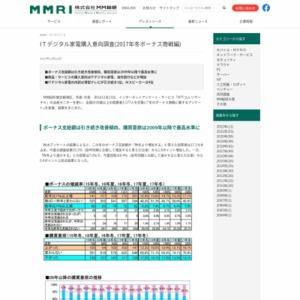 ITデジタル家電購入意向調査(2017年冬ボーナス商戦編)