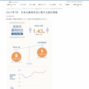 2017年7月 日本の雇用状況に関する統計情報