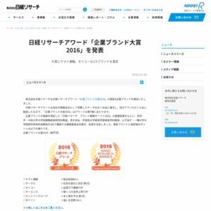 企業ブランド大賞2016