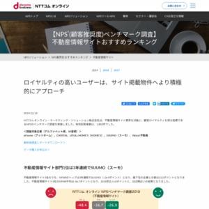 NPSベンチマーク調査【不動産情報サイト】
