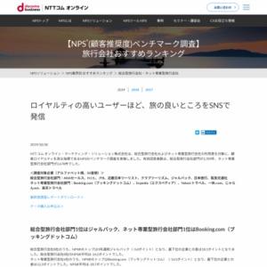 トラベル業界を対象にしたNPSベンチマーク調査2017