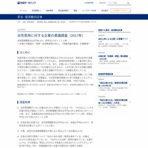 女性登用に対する企業の意識調査(2017年)