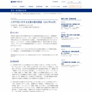 人手不足に対する企業の動向調査(2017年10月)