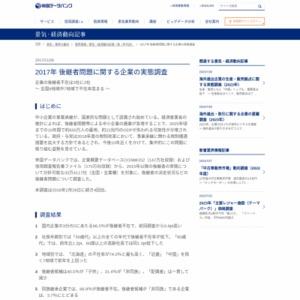 2017年 後継者問題に関する企業の実態調査