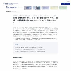 Webユーザビリティランキング<ペット保険(損害保険)編 2017>