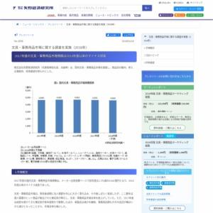 文具・事務用品市場に関する調査を実施(2018年)
