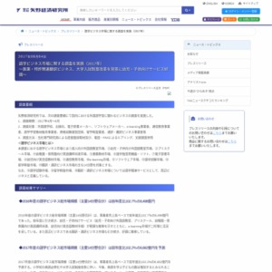 語学ビジネス市場に関する調査を実施(2017年)